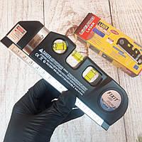 Лазерный уровень двухплоскостной строительный для ремонта плитки LASER LEVELPRO с рулеткой (Живые фото)