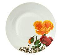 Набор 6 десертных тарелок Оранжевый мак d 19см, керамика psgST-55602, КОД: 2370355