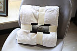 Плед флисовый Bella Villa 160х200 см молочный, фото 2