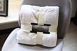 Плед флисовый Bella Villa 200х220 см молочный, фото 2