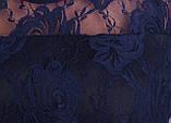 Квитка. Гипюровая блуза больших размеров. Синий., фото 6