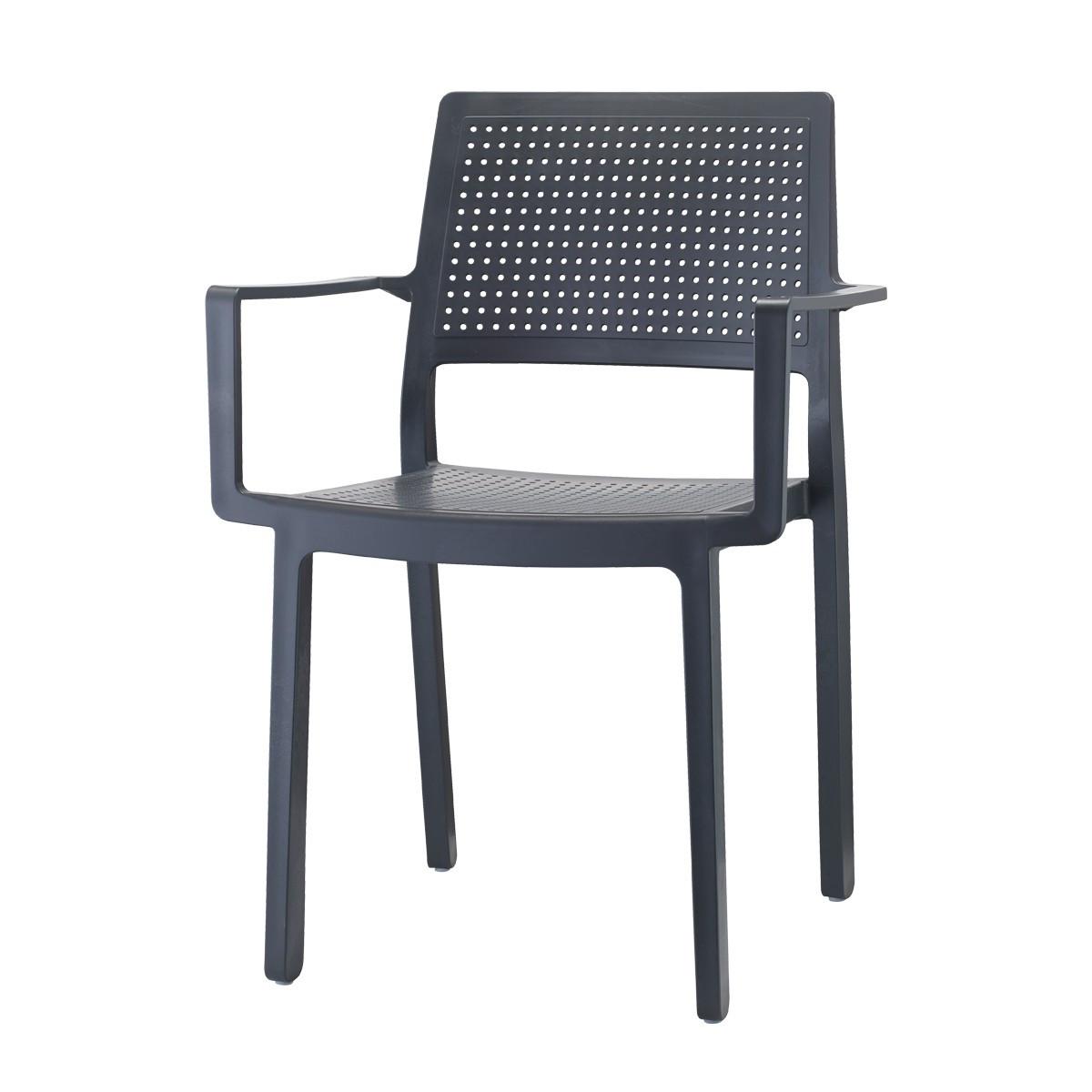 Крісло Emi з підлокітниками  SCAB antracite
