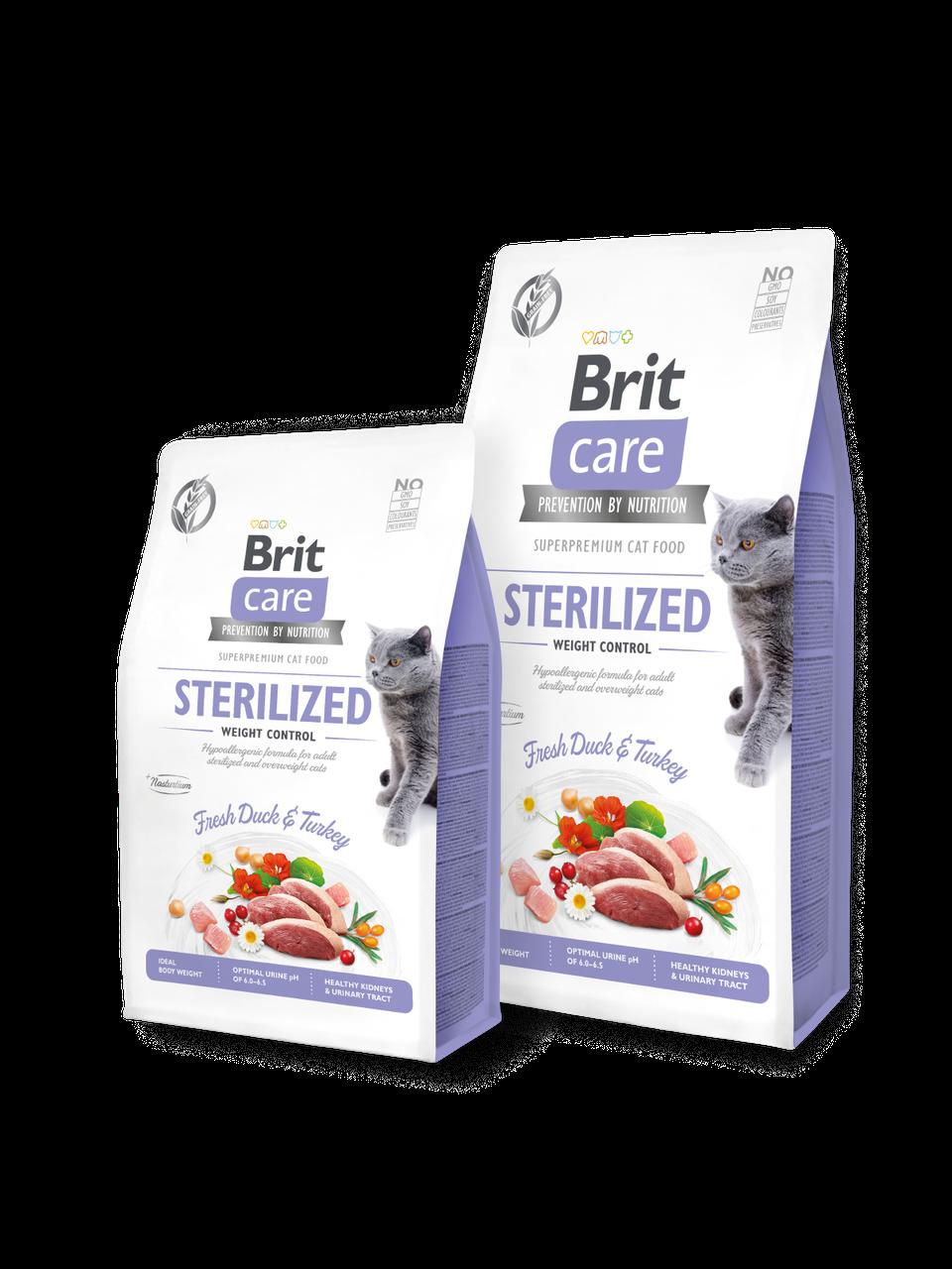 Корм для котов Brit Care Cat Grain-Free STERILIZED AND WEIGHT CONTROL 2кг