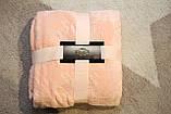 Плед флисовый Bella Villa 200х220 см нежно-розовый, фото 3