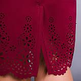 Ажур. Гарне плаття plus size. Бордо., фото 5