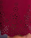 Ажур. Гарне плаття plus size. Бордо., фото 6