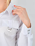 Петра. Блуза плюс сайз для офісу. Білий., фото 4