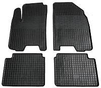 Резиновые коврики в салон Chevrolet Aveo 2002-2010, 4 шт. (Бютжет)