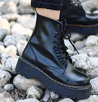 Женские зимние ботинки Dr. Martens JADON черные ТЕРМО 36-39р. Реальное фото. Топ реплика