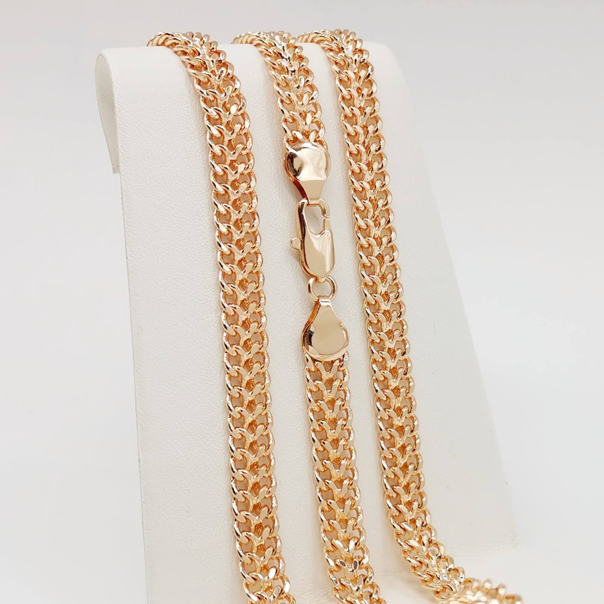 """Цепочка """"Королевский бисмарк"""" SONATA из медицинского золота, позолота РО, 31359       (60 см)"""