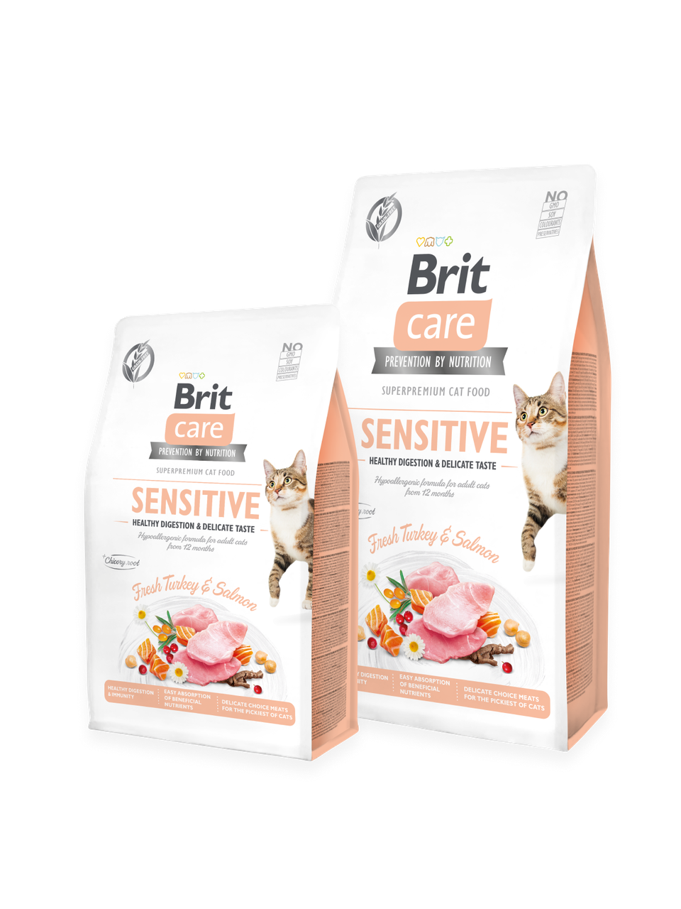 Корм для котов Brit Care Cat Grain-Free SENSITIVE HEALTHY DIGESTION AND DELICATE TASTE 2кг