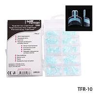 Типсы Lady Victorу TFR-10  для педикюра голубые, 100 шт