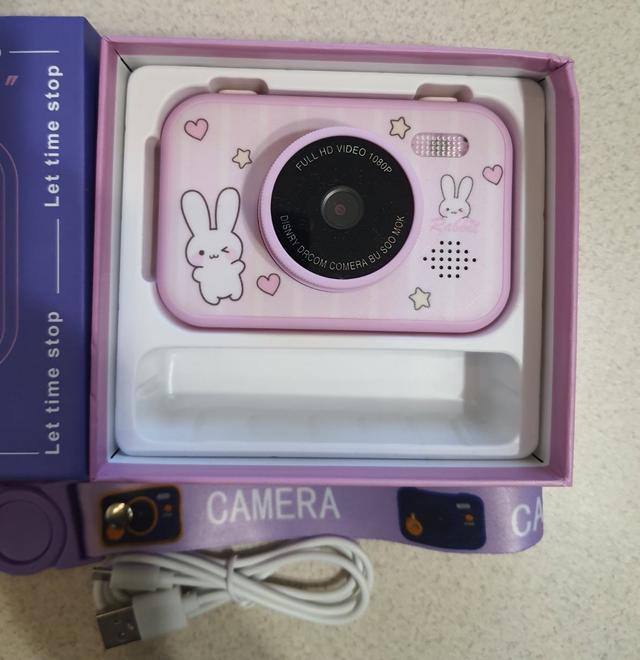 New! Дитячі цифрові фотоапарати рожеві Зайчики з двома камерами, фото, ціна, відгуки, в Україні
