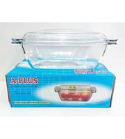Кастрюля-гусятница с крышкой жаростойкое стекло 2,3 литра
