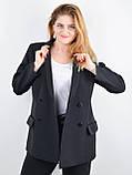 Дольче. Пиджак для офиса plus size. Черный., фото 3