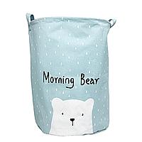 """Корзина """"hello my bear"""" (голубая)"""