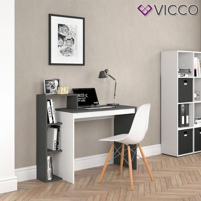 Стіл для ноутбуку Vicco Leo, 110x91, білий, антрацит
