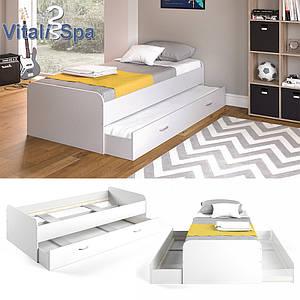 Vicco дитяче ліжко Enzo з гостьовим спальним місцем без ламелей, 94x203 см, колір білий