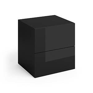 Vicco тумбочка для спальні Charles, 50x51, 2 штуки, колір чорний глянець