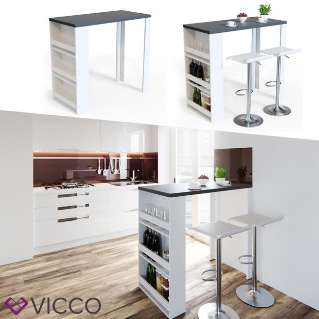 Барная стойка на кухню 106х57 Vicco, белый, антрацит