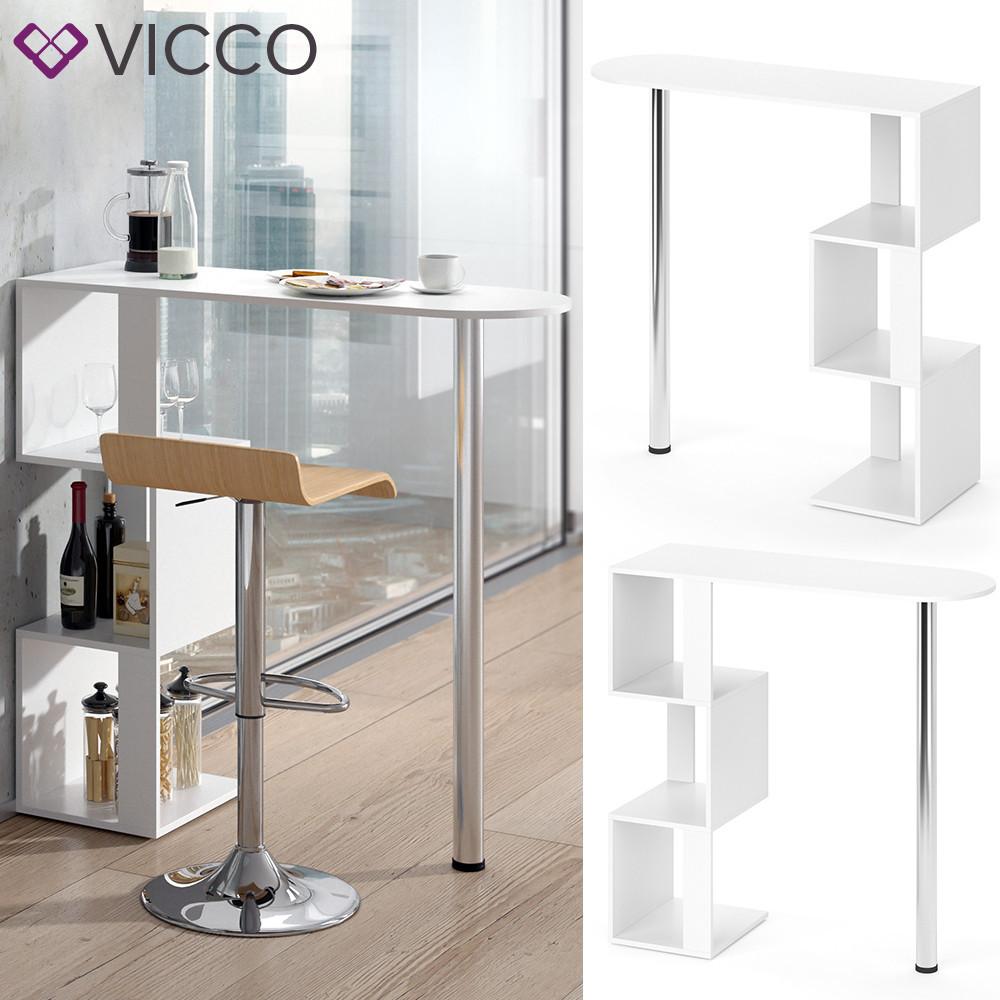 Барний столик 113х112 Vicco Vincent, білий