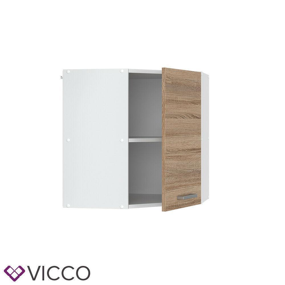 Верхний угловой шкаф на кухню 57х57 Vicco, сонома