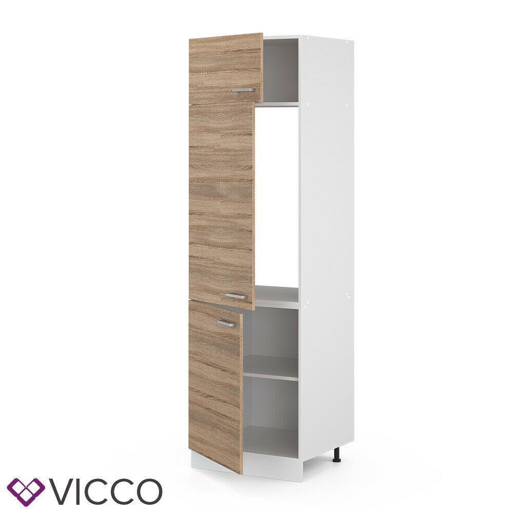 Высокий кухонный шкаф Vicco 60х207, сонома