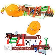 Детский набор инструментов 25162  каска, на поясе, в сетке, 60 см