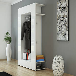 Готовый мини гардероб 106x192 Vicco, белый, глянец