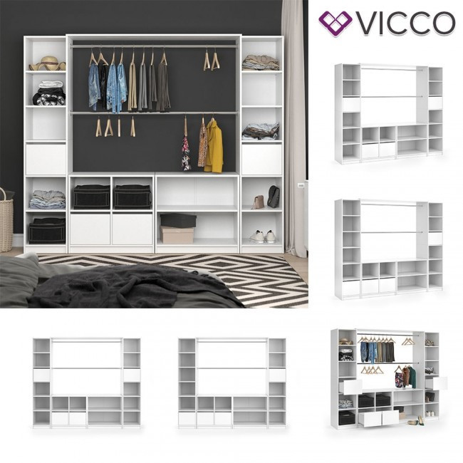 Готовый модульный гардероб Vicco Visit XXL, белый
