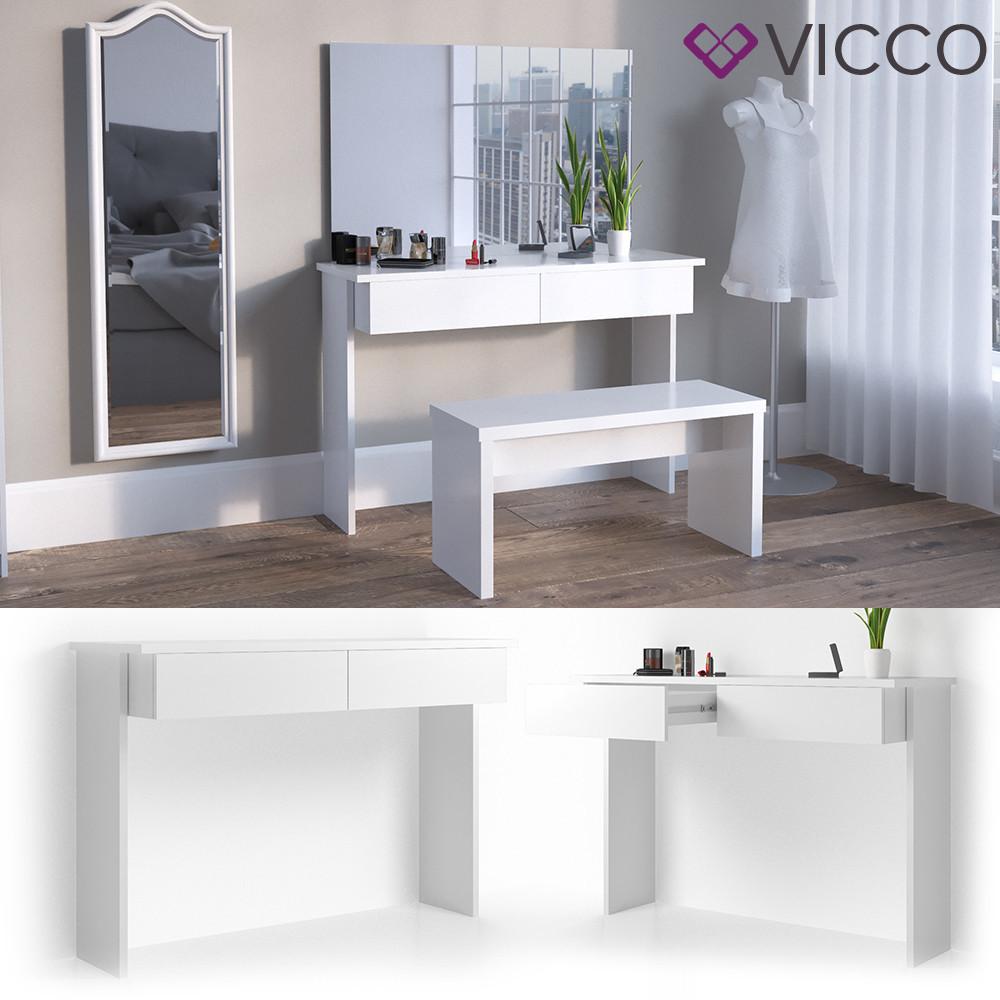Дамський стіл 120x83 без дзеркала Vicco Azur, білий глянець