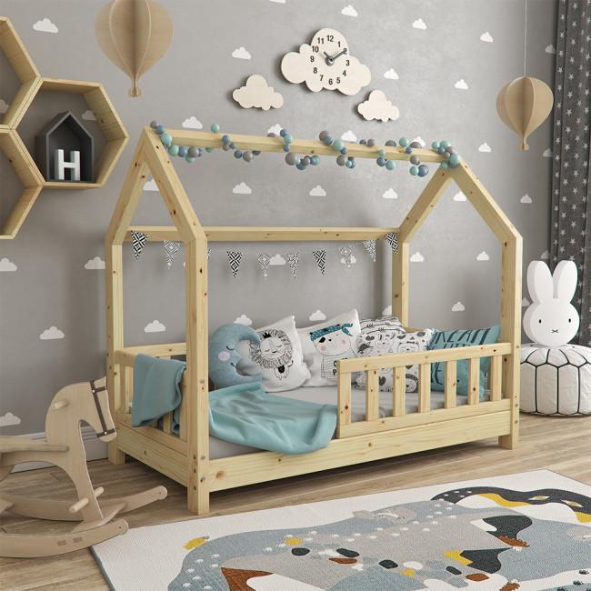 Дитяче ліжечко з бортиками 70x140 VitaliSpa, натуральне дерево