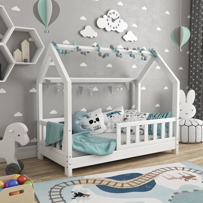 Дитяче ліжечко з бортиками 70x140 VitaliSpa, натуральне дерево, біле