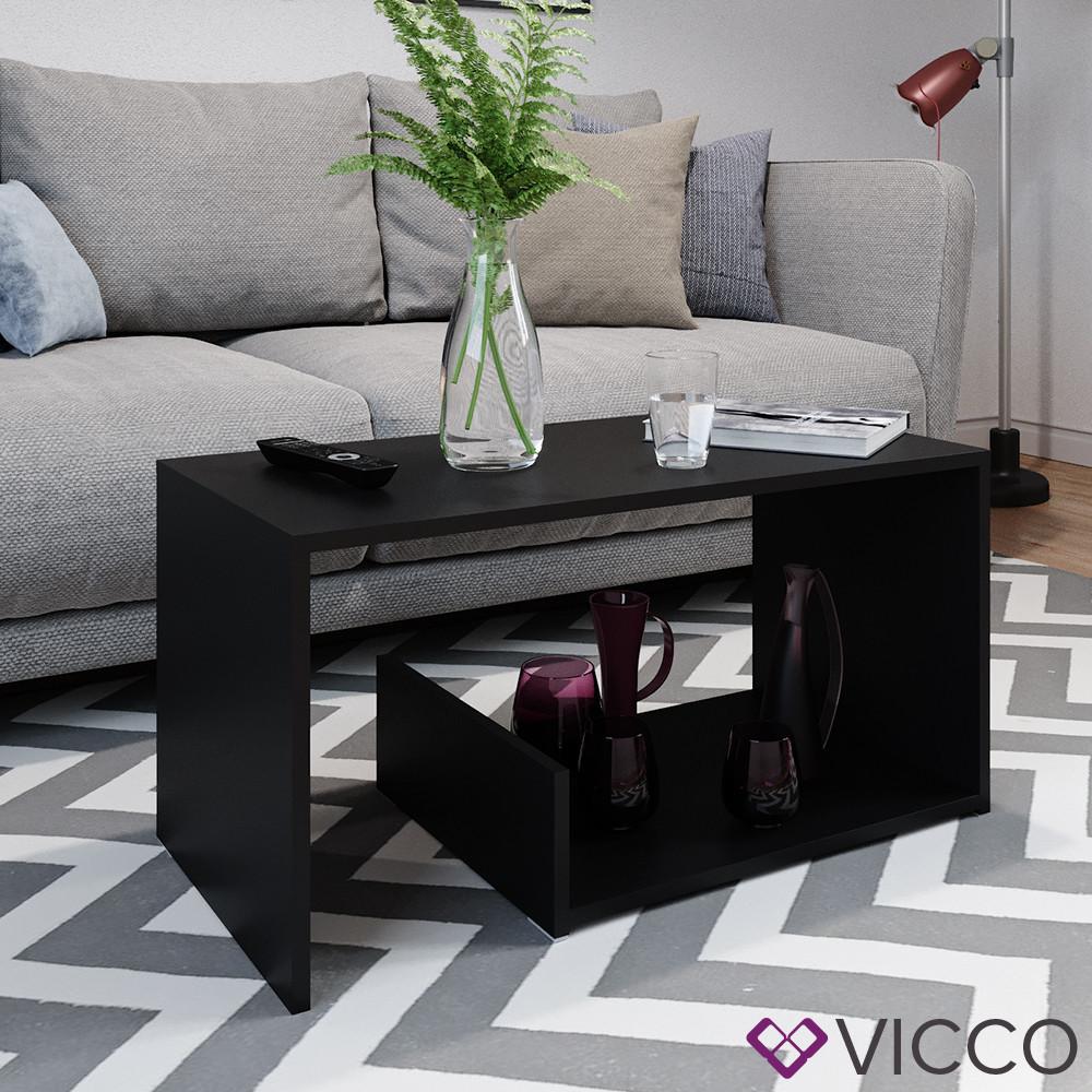 Журнальний стіл Vicco Tyrion 80x40, чорний