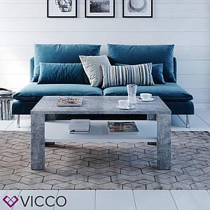 Журнальный стол с полкой 100x60 Vicco Gabriel, бетон