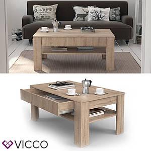 Журнальный стол с ящиком 110х65 Vicco Milan, сонома