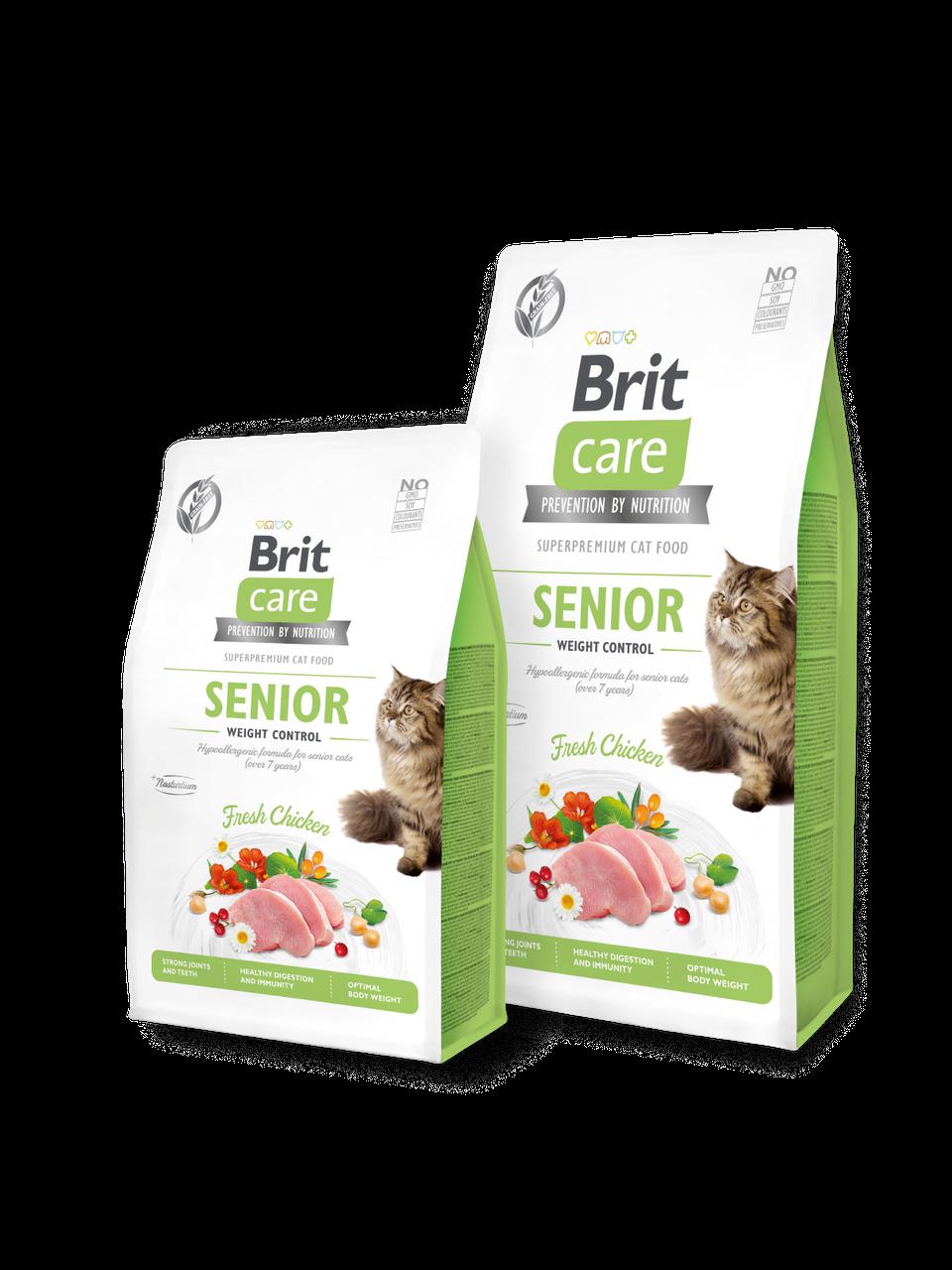 Корм для котов Brit Care Cat Grain-Free SENIOR AND WEIGHT CONTROL 0.4кг