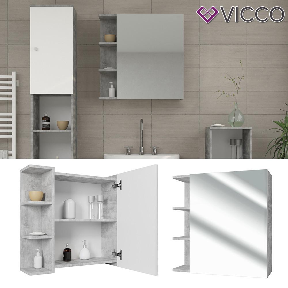 Дзеркальна шафа у ванну 64x62 Vicсo Fynn, бетон