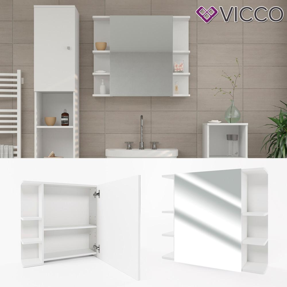 Дзеркальна шафа у ванну 64x80 Vicсo Fynn, білий