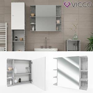 Зеркальный шкаф в ванную 64x80 Vicсo Fynn, бетон