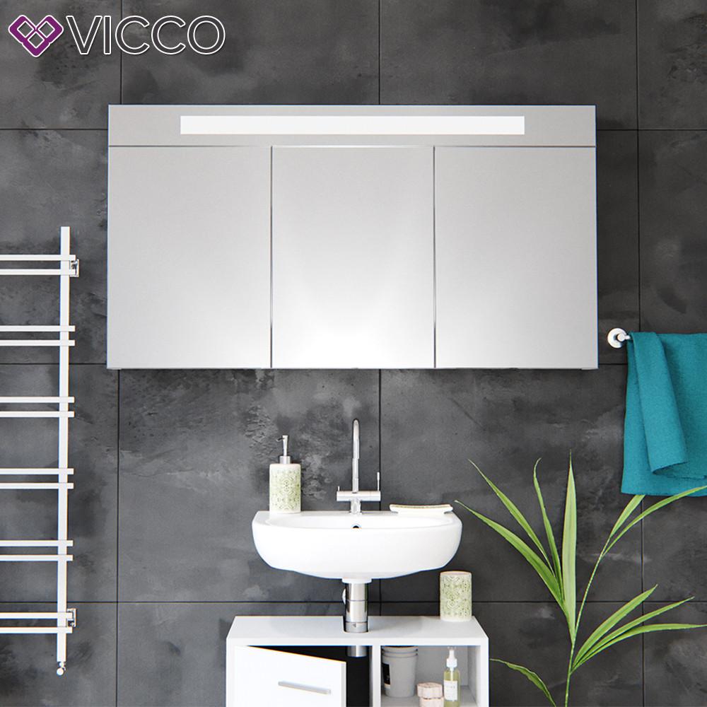 Дзеркальна шафа у ванну LED 120х65 Vicco, білий