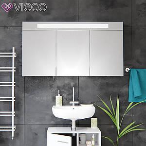 Зеркальный шкаф в ванную LED 120х65 Vicco, белый