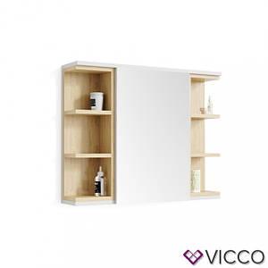 Зеркальный шкаф для ванной 80x64 Vicco Aquis, белый