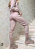 Женский кашемировый вязаный костюм серый голубой бежевый, фото 6