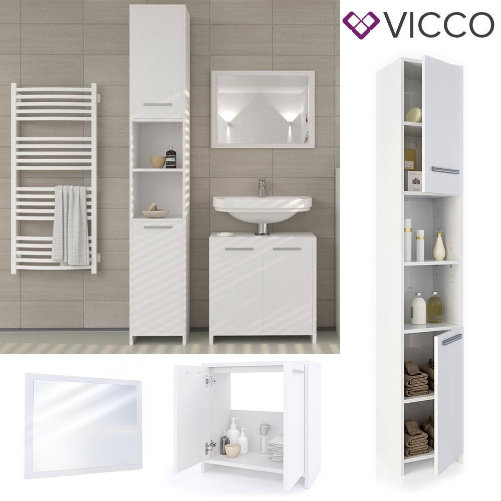 Комплект мебели в ванную 3 предмета Vicco Kiko, белый