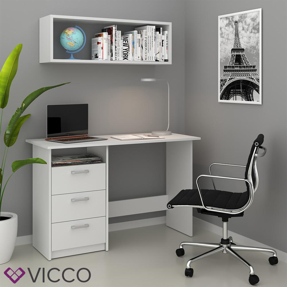 Компьютерный стол 120x77 Vicco Meiko, белый