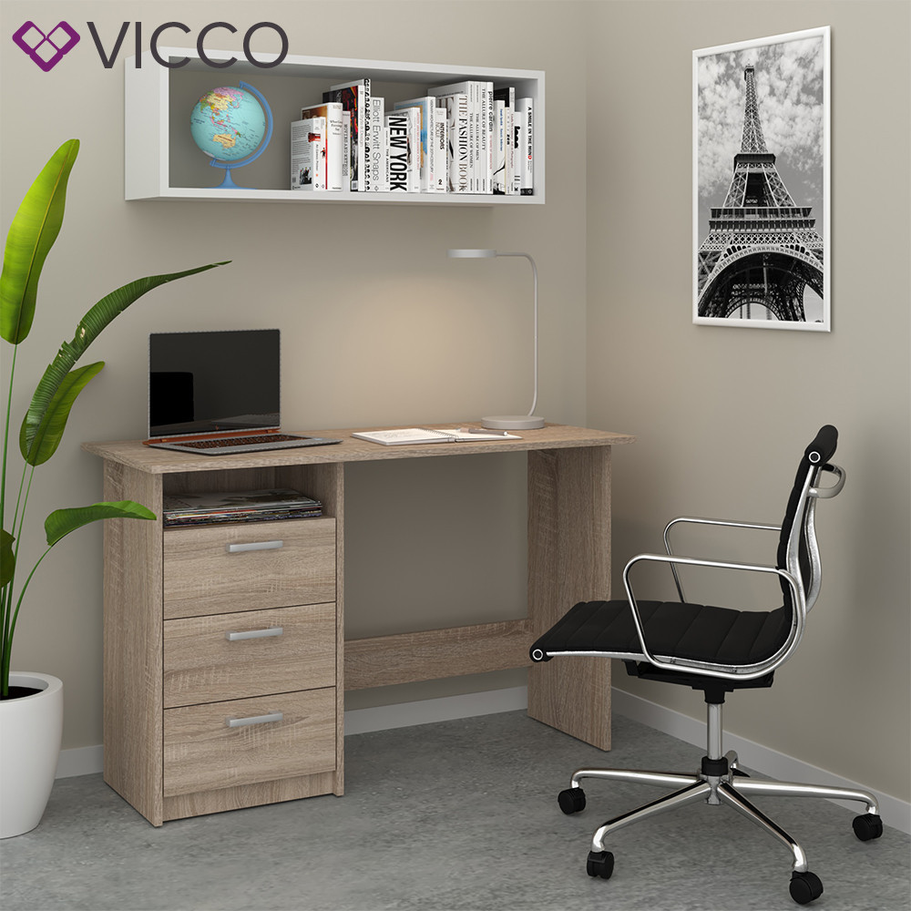 Компьютерный стол 120x77 Vicco Meiko, сонома