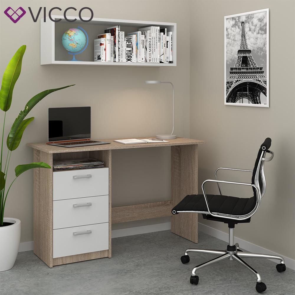 Компьютерный стол 120x77 Vicco Meiko, сонома/белый