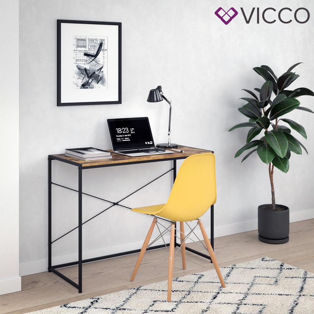 Компьютерный стол лофт 100х45 Vicco Fyrk, винтажное дерево