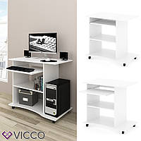 Компьютерный стол на колесиках 80x50 Vicco Harm, белый
